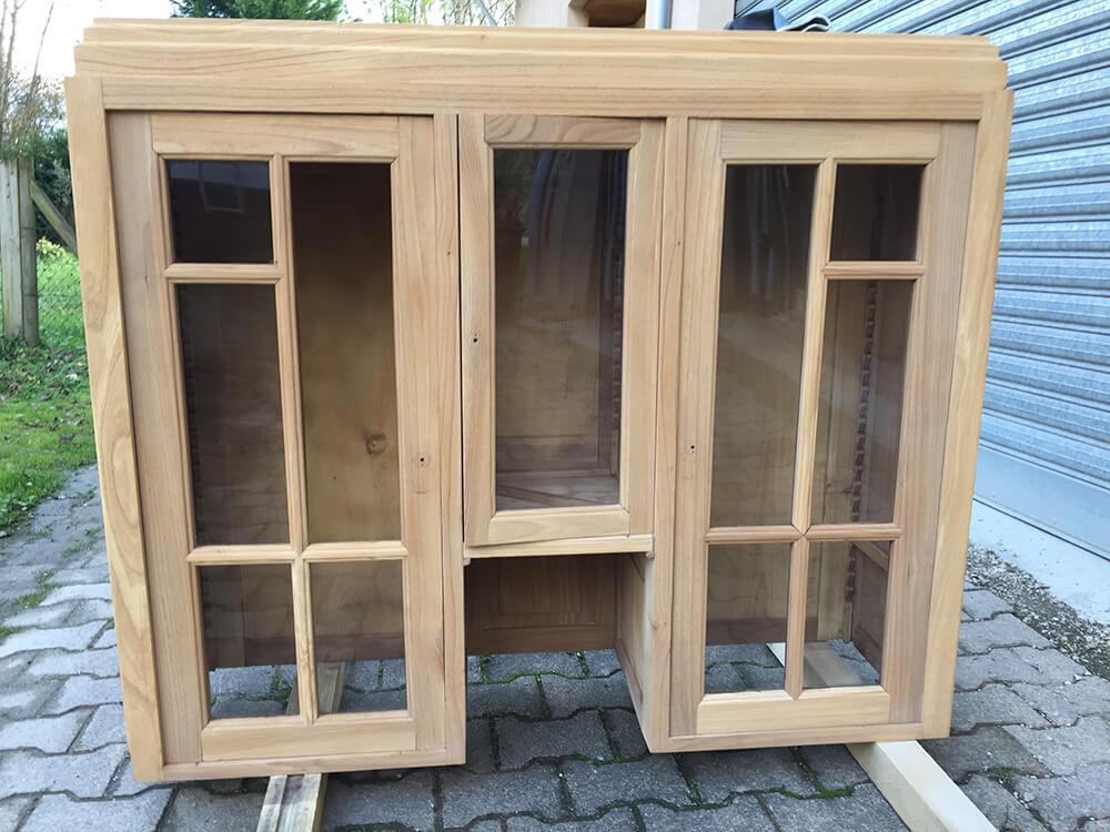 Restauration de meuble en bois par aérogommage à Grenoble