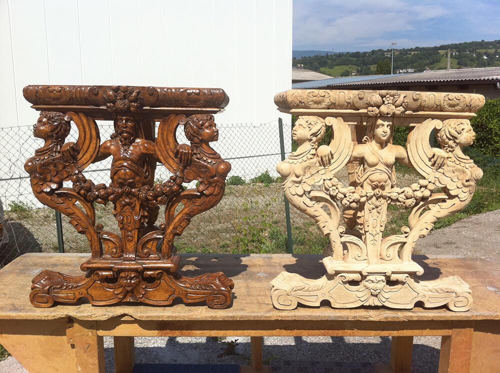Restauration de meubles par hydrogommage à Annecy (Savoie)