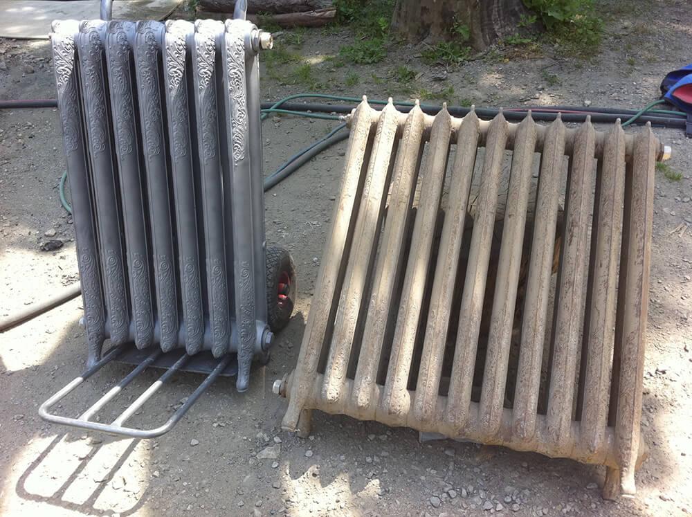 Restauration de radiateur par hydrogommage à Annecy (Savoie)
