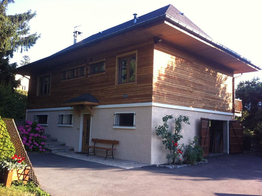 Maison après nettoyage de façade et peinture à Annemasse (Savoie 73)